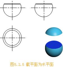 機械制圖常識:球面截交線